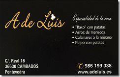Restaurante A de Luis Cambados Tarxeta