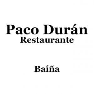 Restaurante Paco Durán Bahíña